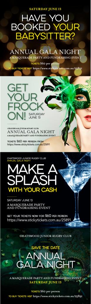 2015 Gala Night Marketing