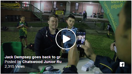 NSW Waratah Jack Dempsey visits Chatswood